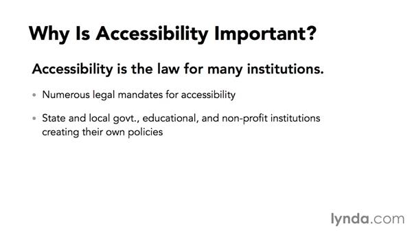 Why is accessibility important?: Creating Accessible Microsoft Office Documents