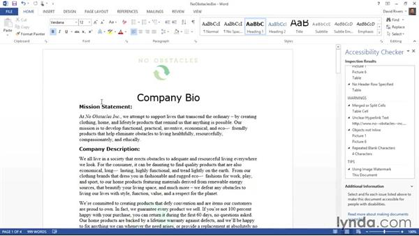 Making text more accessible: Creating Accessible Microsoft Office Documents
