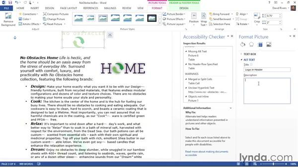 Making images accessible: Creating Accessible Microsoft Office Documents