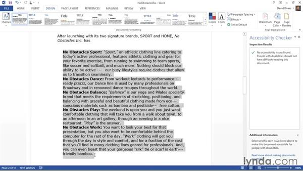 Making lists more accessible: Creating Accessible Microsoft Office Documents