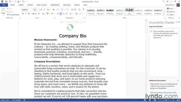 Using text-to-speech functionality: Creating Accessible Microsoft Office Documents