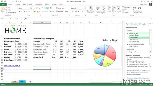 Using the Accessibility Checker: Creating Accessible Microsoft Office Documents