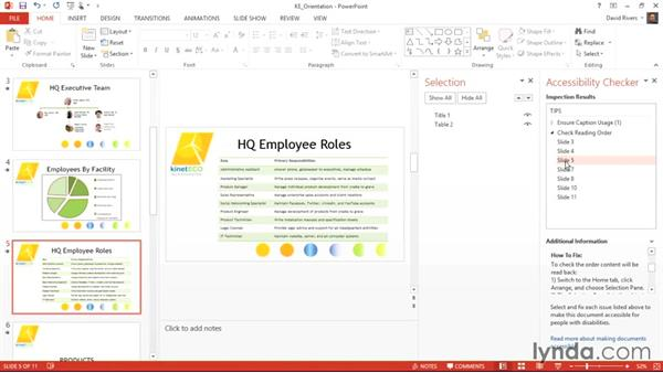 Considering object order for screen readers: Creating Accessible Microsoft Office Documents