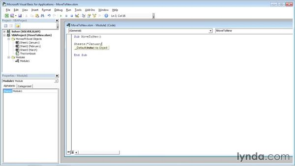 Moving a worksheet to a new workbook: Excel VBA: Managing Files and Data