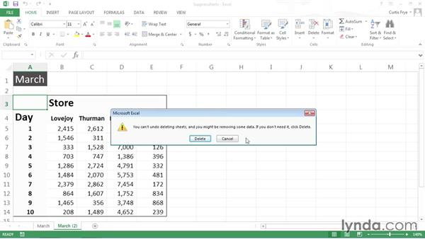 Suppressing and restoring alerts: Excel VBA: Managing Files and Data