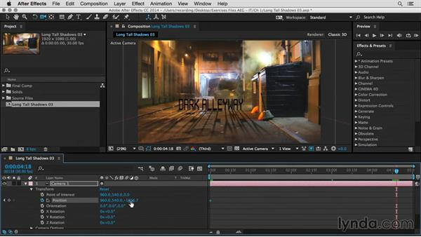 Camera animation: After Effects Guru: Integrating Type into Video
