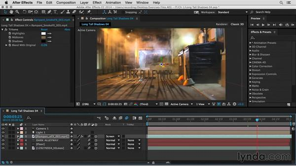 Add atmosphere and sound: After Effects Guru: Integrating Type into Video