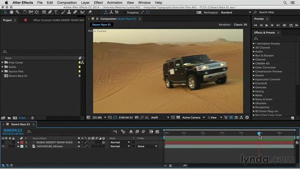 Analyze the shot and design the main title: After Effects Guru: Integrating Type into Video