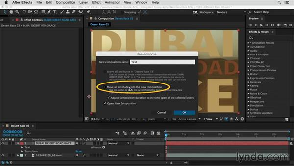 Pasting tracking data in After Effects: After Effects Guru: Integrating Type into Video