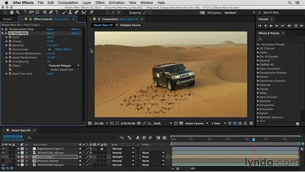 Create a sandstorm transition: After Effects Guru: Integrating Type into Video