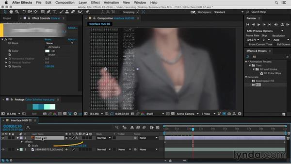 Add computer code animation: After Effects Guru: Integrating Type into Video