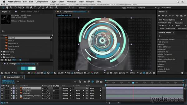 Create a pulse animation: After Effects Guru: Integrating Type into Video