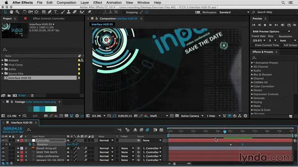 Parent to motion and improve the look: After Effects Guru: Integrating Type into Video