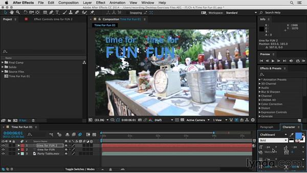 Inspect the background video and check for appropriate typefaces: After Effects Guru: Integrating Type into Video