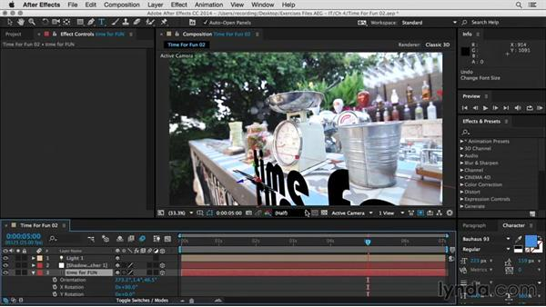 3D camera tracking: After Effects Guru: Integrating Type into Video