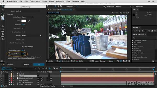 3D extrusion and materials: After Effects Guru: Integrating Type into Video