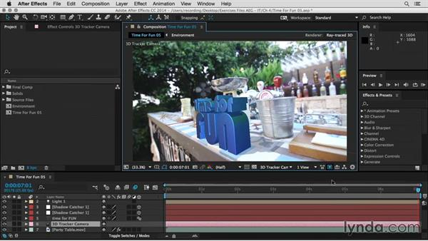 Shadows, depth of field, and motion blur: After Effects Guru: Integrating Type into Video