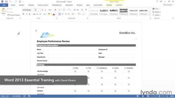 What you'll need for this course: Word 2013: Templates in Depth