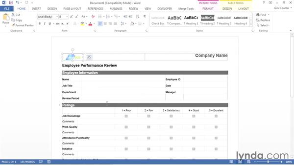 Customizing a template: Word 2013: Templates in Depth