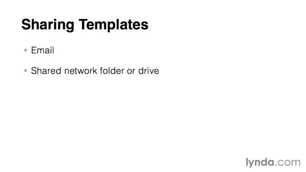 Template-sharing strategies: Word 2013: Templates in Depth