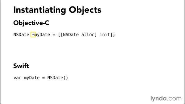 Instantiating objects: Comparing Swift and Objective-C