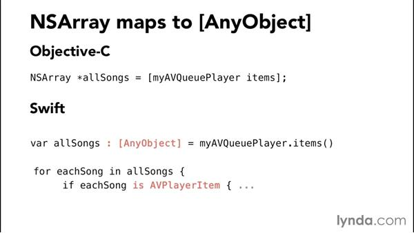 Using id and AnyObject references: Comparing Swift and Objective-C