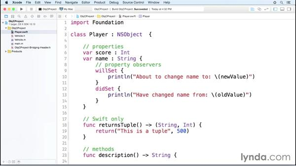 Inheriting between languages: Comparing Swift and Objective-C