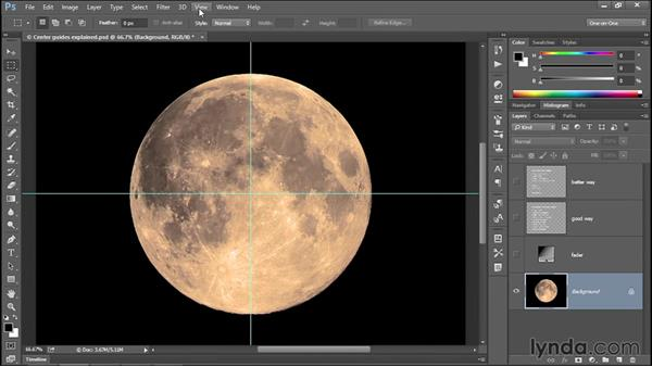 377 Two ways to create center guides in Photoshop: Deke's Techniques