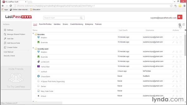 Editing and organizing logins: LastPass Password Management Fundamentals