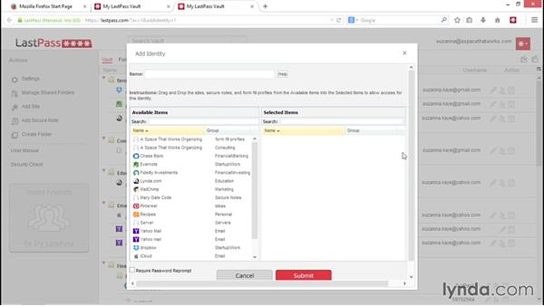 Setting up identities: LastPass Password Management Fundamentals