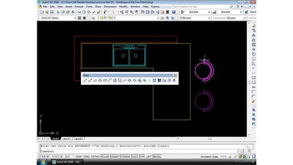 Toolbars: AutoCAD 2008 Essential Training