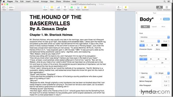 Starting with an existing document: Creating EPUBs from a Pages Document