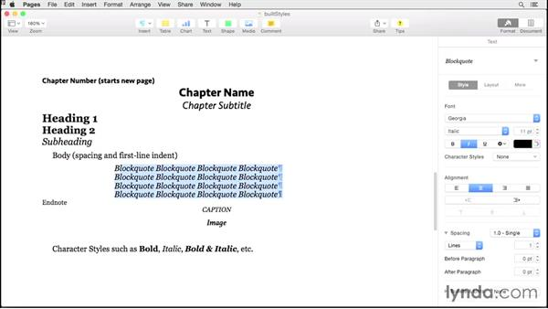 Recommended styles: Creating EPUBs from a Pages Document