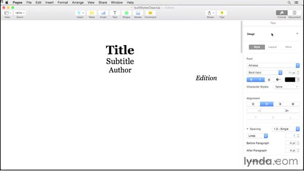 Spring-cleaning styles: Creating EPUBs from a Pages Document