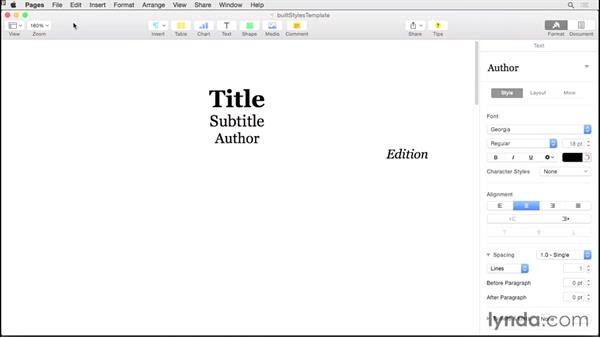 Creating a template: Creating EPUBs from a Pages Document