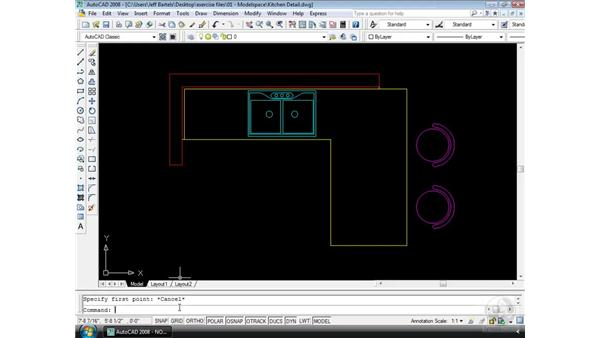 AutoCAD's command line: AutoCAD 2008 Essential Training
