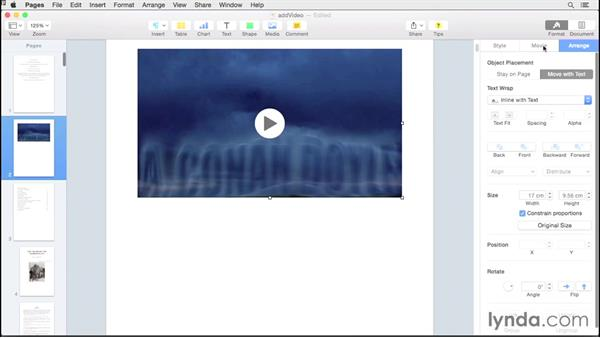 Adding audio and video: Creating EPUBs from a Pages Document