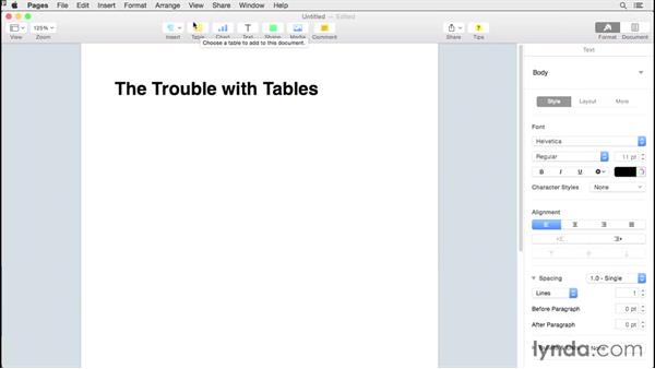The trouble with tables: Creating EPUBs from a Pages Document
