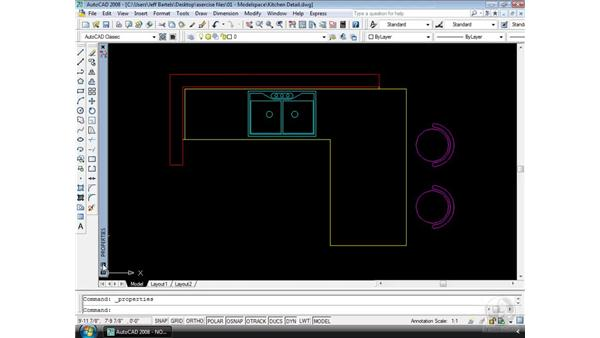 Dockable palettes: AutoCAD 2008 Essential Training