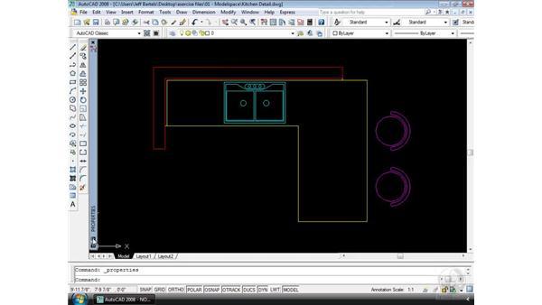 Dockable palettes: AutoCAD 2008 Essential Training