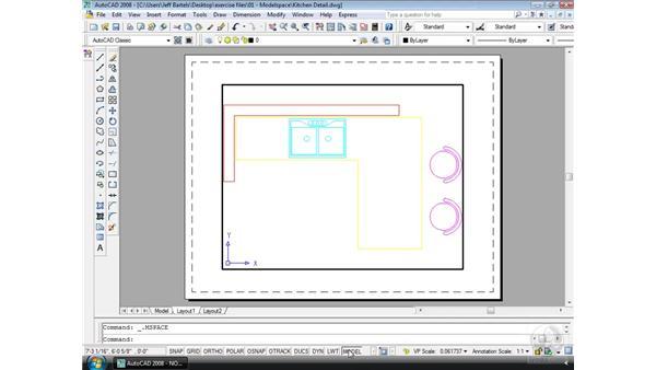 The Status bar: AutoCAD 2008 Essential Training