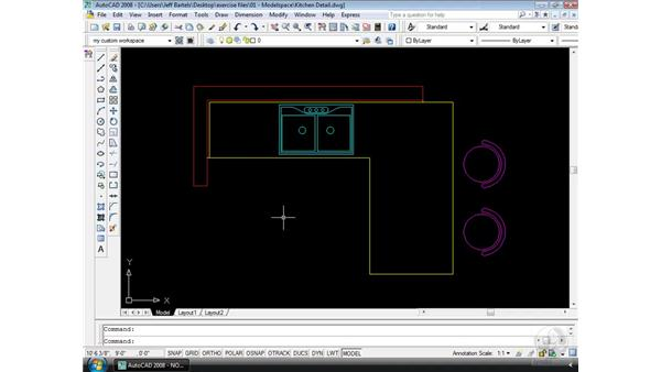 Saving your workspace: AutoCAD 2008 Essential Training