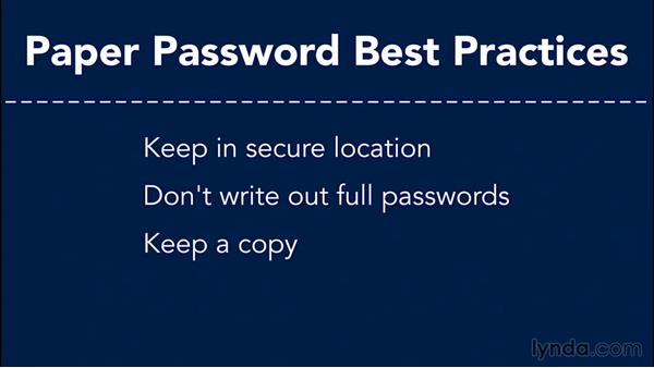 Password concepts: Going Paperless: Start to Finish