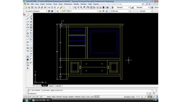 Opening an AutoCAD drawing: AutoCAD 2008 Essential Training