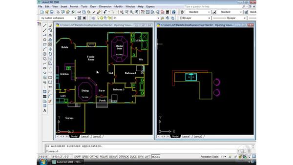 The multiple-document environment: AutoCAD 2008 Essential Training