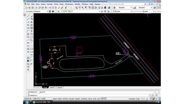 Saving your work: AutoCAD 2008 Essential Training