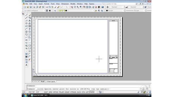 Using templates: AutoCAD 2008 Essential Training