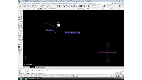 The Heads-Up display: AutoCAD 2008 Essential Training