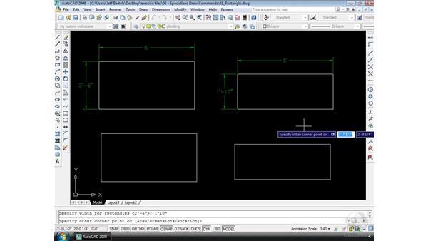 Rectangle: AutoCAD 2008 Essential Training