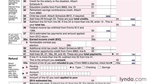 Single Form 1040A tax payment or tax refund